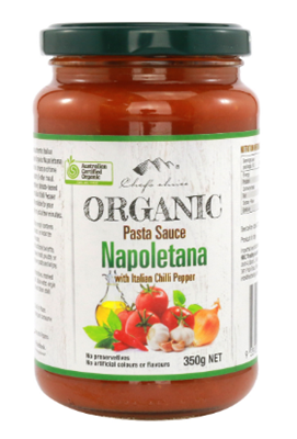 Picture of CHEF'S CHOICE ORGANIC  NAPOLETANA SAUCE 350G