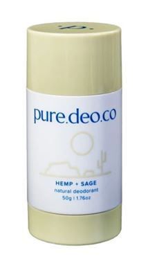 Picture of PURE DEO CO HEMP + SAGE NATURAL DEODORANT 50G