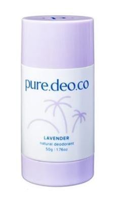 Picture of PURE DEO CO LAVENDER NATURAL DEODORANT 50G
