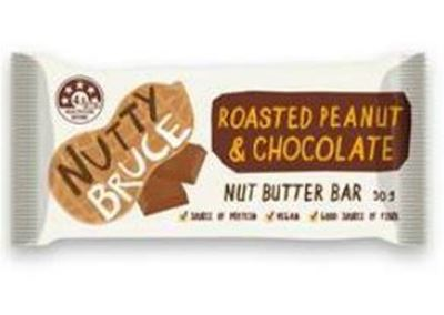 Picture of NUTTY BRUCE ROASTED PEANUT & CHOCOLATE NUT BUTTER BAR 50G